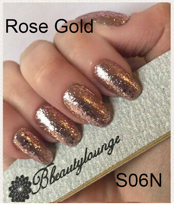 Bluesky S06N ROSE GOLD Glitter UV LED Soak Off Gel Nail Polish + FREE FILE