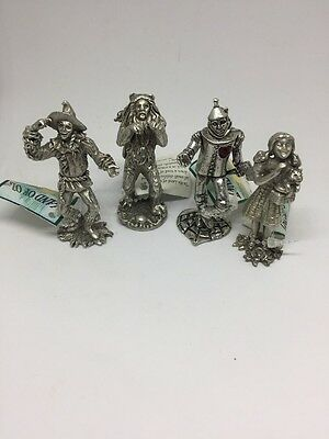 Land Of Oz Pewter Dorthy, The Tinman, The Scarecrow And The Lion