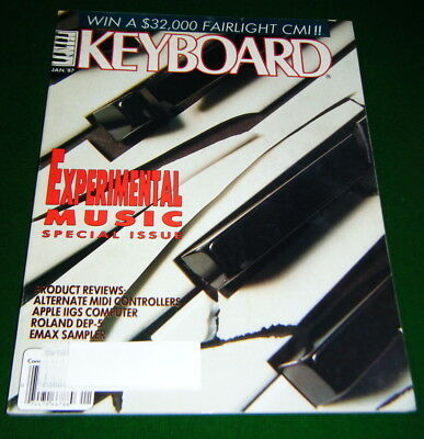 1987 KEYBOARD Magazine w-Flexi-disc Soundpage Record: Experimental Music Special