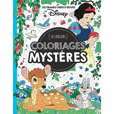 Disney Animals Adult Colouring Book French By Number Fun Princess Fairytale Art