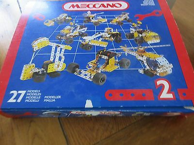Meccano set 2. 1990's vintage, boxed, includes instruction booklets 1&2