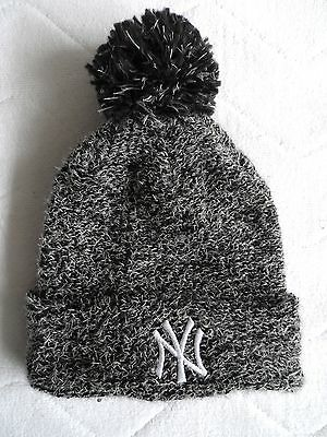 WOMENS FEMME New Era WOOL NY NEW YORK YANKEES Bobble Beanie Pompom Baseball