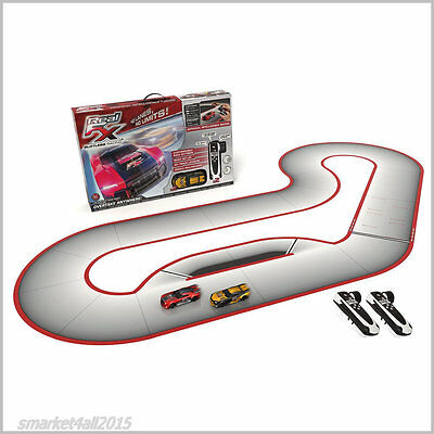 Kids Slotless Racing Cars Toys Set Remote Track Control Fast RC Car Toy Game New