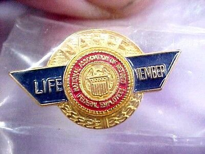 Vintage NARFE PIN National Association of Retired Federal Employees Life Member