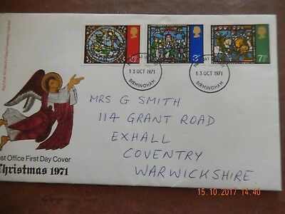 First Day Cover - Christmas 1971  - wth insert -