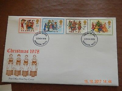 First Day Cover - Christmas 1978 - wth insert -