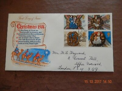 First Day Cover - Christmas 1974 - wth insert -
