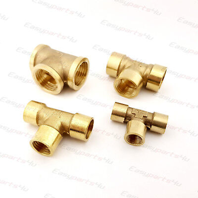 Brass BSP T Shape Equal | Female Thread | Tee Connector Pipe Fittings Tubing