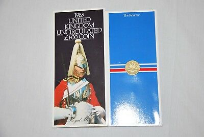1983 United Kingdom uncirculated £1 coin in presentation pack