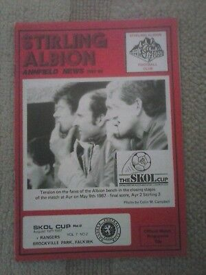 Stirling Albion v Rangers SLC 1987