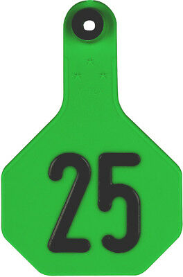 Y-Tex Numbered Medium Cattle ID Ear Tags 51 - 75* Green