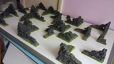20 Ancient Ruins,28mm,Scenery,Terrain,LOTR,Warhammer,Painted,Epic,40k,Wargaming