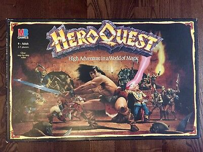 Vintage HeroQuest Adventure Board Game MB Games Workshop 1989