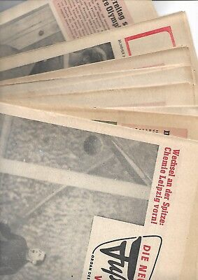 11 East German football mags from 1964 and 65 covering DDR league and euro ties