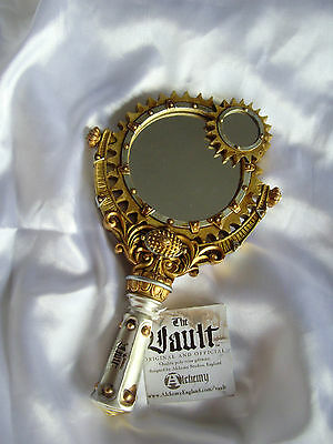 Alchemy Steampunk Lady Talbot's Retrospector Cogs & Gears Resin Hand Held Mirror