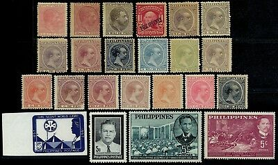 Philippines, 23 different lightly mounted and unmounted mint stamps