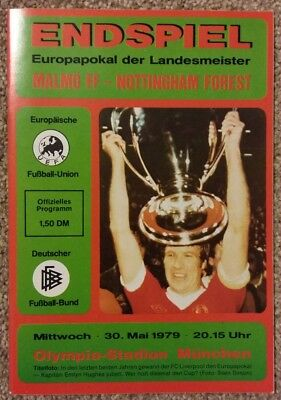 1979 European Cup Final Programme - Malmo v Nottingham Forest