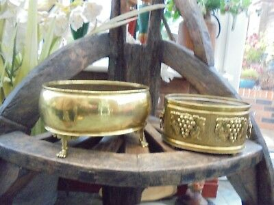 2 Beautiful Superbly  Decorative  Brass Planter's