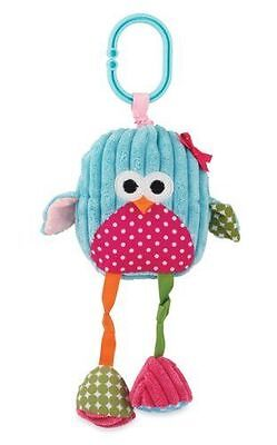 Nwt Mud Pie Boutique Forest Animal Owl Clip On Stroller Toy