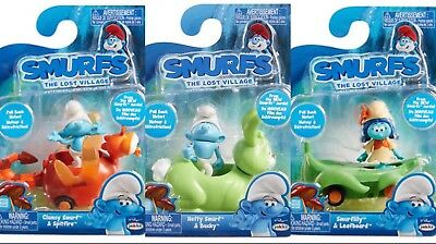 BRAND NEW Smurfs: The Lost Village Pull Back Vehicle (Pack Of 3)
