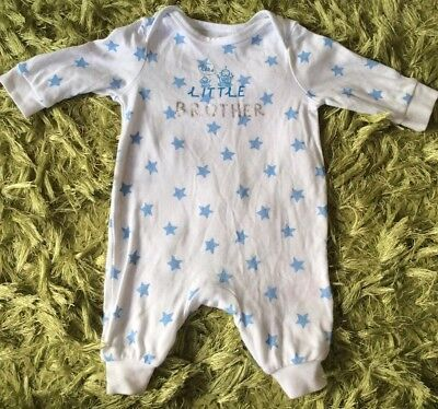 Little Brother boys Sleepsuit, Size 0-3 Months From bluezoo At Debenhams