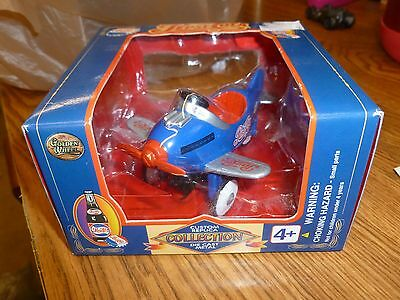 New! Pepsi-Cola Pedal Plane - Golden Wheel Die Cast Body / Blue