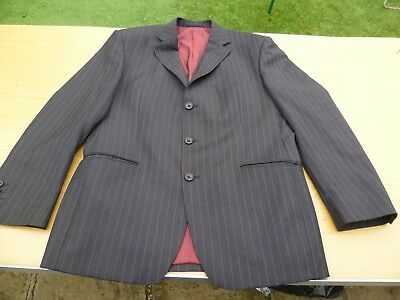 Marks & Spencer Satorial Charcoal Pinstripe suit jacket 38S trousers 34W 31L