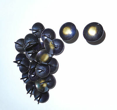ORIGINAL BLACK/DISTRESSED CORONA MEXICAN PINE FURNITURE METAL STUDS/PINS x 12