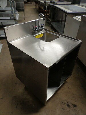 "Price Reduced! Perlick 24"" Stainless Steel Work Table With Hand Sink And Faucet."