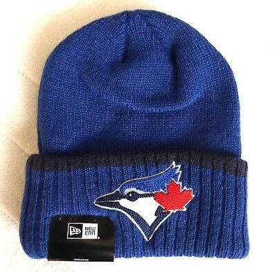 Toronto BLUE JAYS New Era DEEP RIBBED CUFF Beanie Toque Hat Baseball TAG canada
