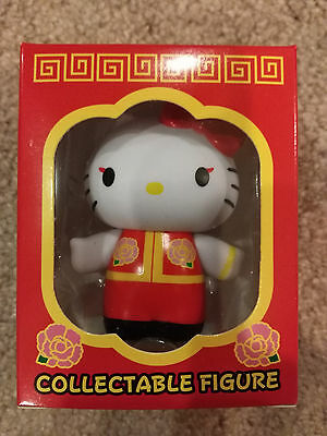 Hello Kitty Vinyl Collectible Figure Red Chinese Outfit Sanrio Collectable