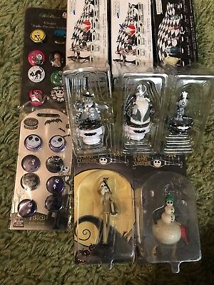 Nightmare Before Christmas Collection Lot includes Rare Disney Chess Figures.