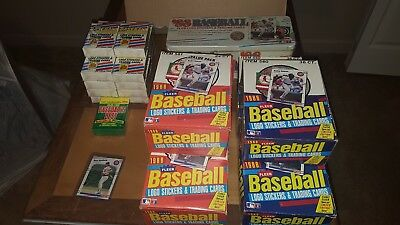 1988 Fleer Baseball LOT 3 Wax Box 3 Cello Box 1 Sealed Factory Tin Set +++
