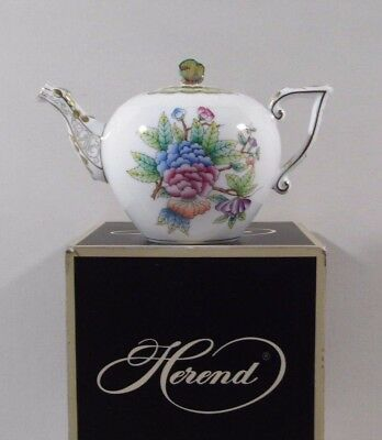 Herend Queen Victoria Miniature Teapot,,brand New Boxed ...