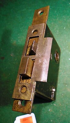 "VINTAGE SKILLMAN MORTISE LOCK w/KEY & STRIKE PLATE - 5 1/2"" FACEPLATE  (2564)"