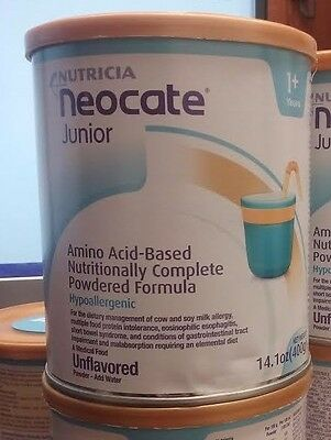 8 cans nutricia Neocate Junior Formula Unflavored 14.1 oz