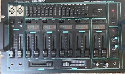 Realistic SSM-2200 4 channel mixer with equaliser.