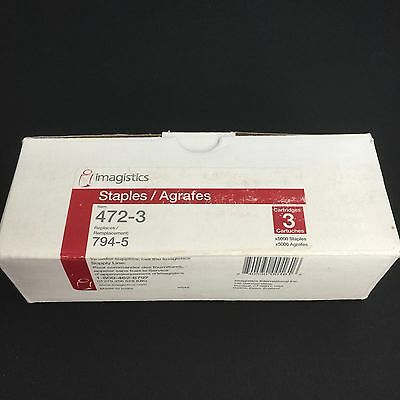 IMAGISTICS 472-3 794-5  REFILL 1 Box of 3 Cartridges Copy Machine 5000 Staples