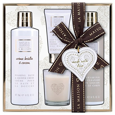 Baylis & Harding Collection Crème Brulee & Cocoa Sauvage Coffret Cadeau Bougie