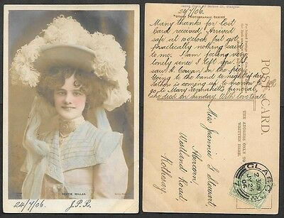 Theatre Actress Photo Postcard - 1906 - Gertie Millar, Posted in Glascow