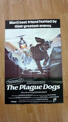 THE PLAGUE DOGS (1982) Original Vintage UK One Sheet Movie Poster