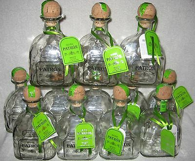 (12) PATRON SILVER TEQUILA 750 ml Bottles w/ Corks & Tags FREE SHIPPING!