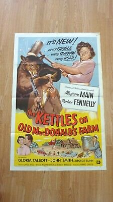 THE KETTLES ON OLD MACDONALD'S FARM (1957) Original US One Sheet Movie Poster
