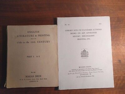 12 Antiquarian Book Auction Catalogues, 8 MAGGS BROS 1929 to 1932 plus 4 more