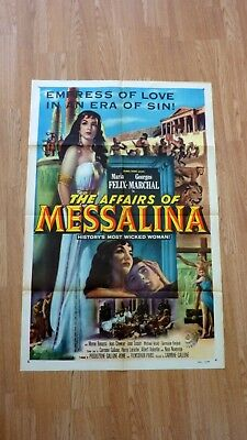 THE AFFAIRS OF MESSALINA (1951) Original Vintage US One Sheet Movie Poster