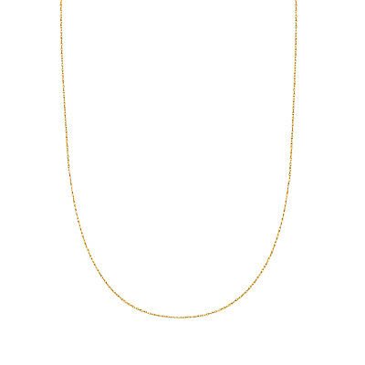 10K Solid Yellow Gold Lite Rope Link Chain 16 18 20  inches