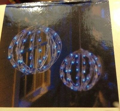 "10"" Blue Lighted Spheres New Still In Box"