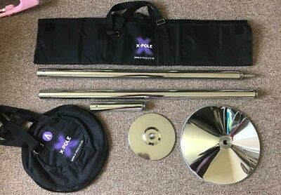 Xpole xpert, static or spinning. pole fitness pole dancing