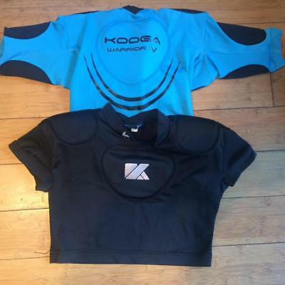 2 X Kooga Rugby Under Armour Protective Clothing Boys/youth Small & Med