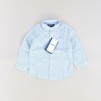 Camisa color Azul marca Mayoral 24 Meses